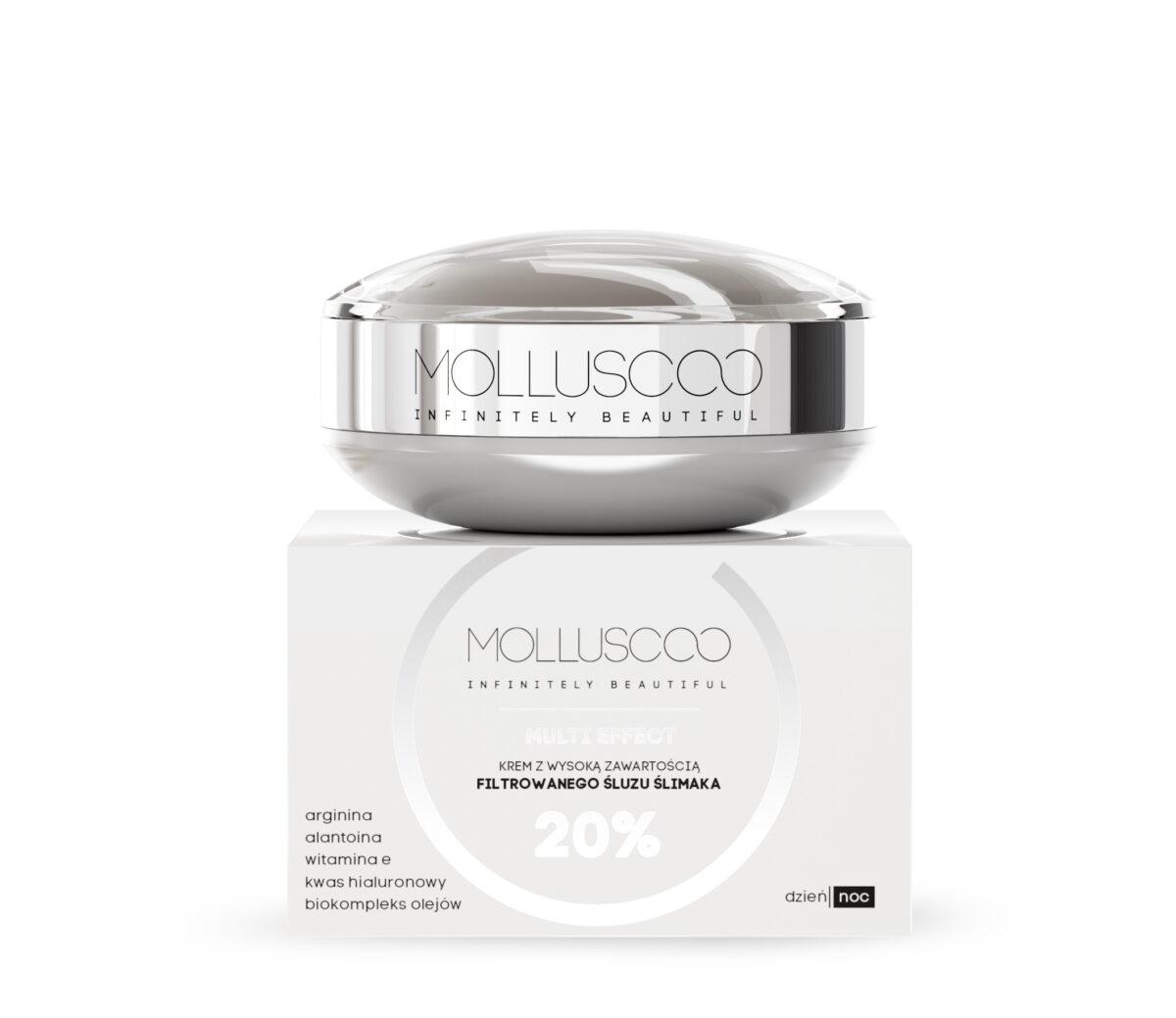 Ultranawilżający krem ze śluzem ślimaka dla kobiet Molluscoo, Day-Night Care